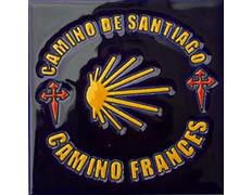Azulejo Cerámica Estrella Camino Francés 11x11 cm