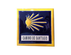 Azulejo Cerámica Estrella y Camino de Santiago con filo 11x11