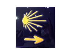 Azulejo Cerámica Estrella y Flecha 15x15 cm