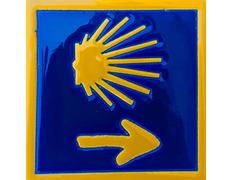 Azulejo Cerámica Estrella y Flecha Camino 11x11