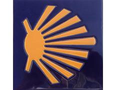 Azulejo cerámica estrella rústica 11x11 cm