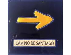 Azulejo cerámica Flecha Camino de Santiago 11x11 cm