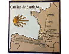 Azulejo cerámica Pueblos Camino de Santiago con Estrella 20x20