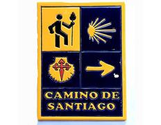 Azulejo cerámica Señales Camino de Santiago 15x20 cm