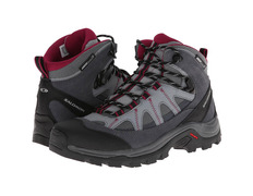 Bota Salomon Authentic LTR CS WP W Gris/Negro/Fucsia