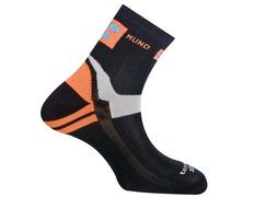 Calcetín Mund Running/Cycling Naranja/Negro/Gris
