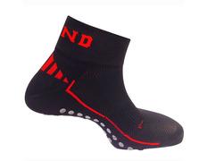 Calcetines Mund Antideslizante Negro/Rojo