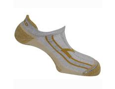 Calcetines Mund Invisible Rizo Gris/Amarillo Mostaza