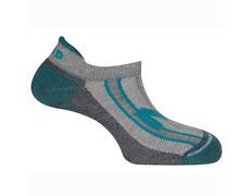 Calcetines Mund Invisible Rizo Gris/Azul