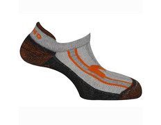 Calcetines Mund Invisible Rizo Naranja/Negro/Gris