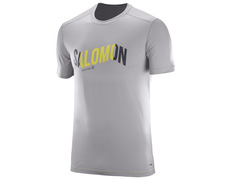 Camiseta Salomon Cosmic Logo Tee Gris