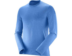 Camiseta Salomon Pulse LS Tee Azul