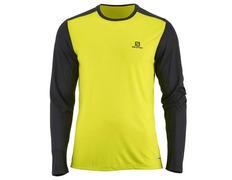 Camiseta Salomon Stroll LS Tee Lima/Negro