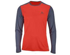 Camiseta Salomon Stroll LS Tee Rojo/Gris