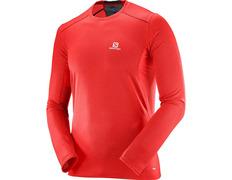 Camiseta Salomon Trail Rnner Ls Tee Rojo