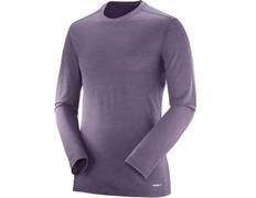 Camiseta Salomon X Wool Ls Tee Morado