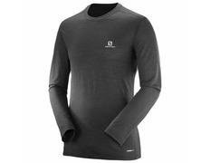 Camiseta Salomon X Wool Ls Tee Negro