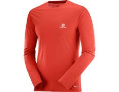 Camiseta Salomon X Wool Ls Tee Rojo