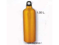 Cantimplora Aluminio Brillo 1 Litro Amarillo