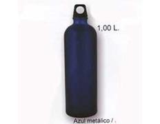 Cantimplora Aluminio Brillo 1 Litro Azul