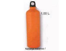 Cantimplora Aluminio Brillo 1 Litro Naranja