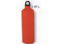 Cantimplora Aluminio Mate 1 Litro Rojo