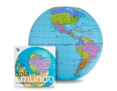 Globo hinchable bolamundo en castellano (40 cm)