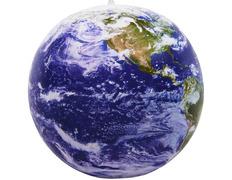 Globo hinchable del mundo satélite con nubes (40 cm)