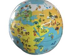 Globo hinchable infantil del mundo pequeños viajeros en castellano (30 cm)