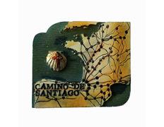 Imán Camino de Santiago Mapa
