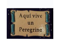Imán Cerámica Aquí vive un Peregrino 5 x 7,5 cm