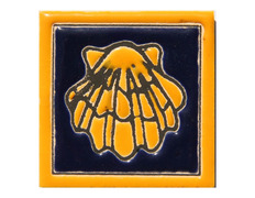 Imán cerámica concha vieira 5x5 cm