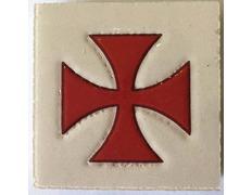 Imán cerámica Cruz de los Templarios 5X5 cm