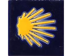 Imán cerámica estrella Camino 7x7 cm