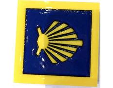 Imán Cerámica Estrella con filo y fondo Azul