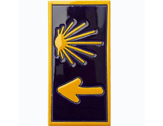 Imán Cerámica Estrella y Flecha Camino 5x7,5 cm