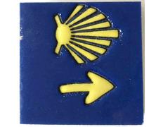 Imán cerámica Estrella y Flecha fondo Azul