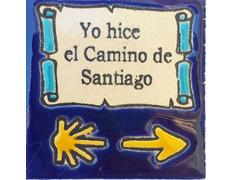 Imán cerámica Yo hice el Camino de Santiago 5x5 cm