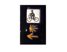 Imán Cerámica Triple Señal con Bici 5x7,5 cm