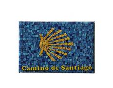 Imán Chapa Estrella Fondo Azul