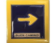 Imán Flecha Buen Camino 7x7 cm