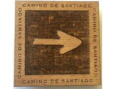 Imán Madera Flecha Camino 4,5 X 4,5 cm