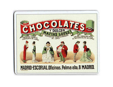 Imán metal Chocolates Matías López 6x8 cm.