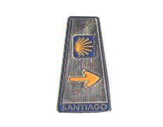 Imán metal Mojón Camino de Santiago