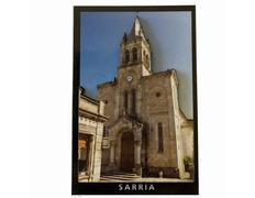 Imán Madera Relieve Iglesia Santa Marina Sarria