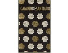 Imán textil Conchas de oro Camino de Santiago