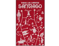 Imán textil Todos los Caminos de Santiago Negro