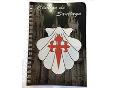 Libreta Viera blanca con Cruz Camino de Santiago