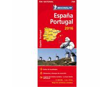 Mapa Michelín España y Portugal 2017