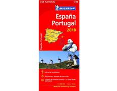 Mapa Michelin España - Portugal 2018
